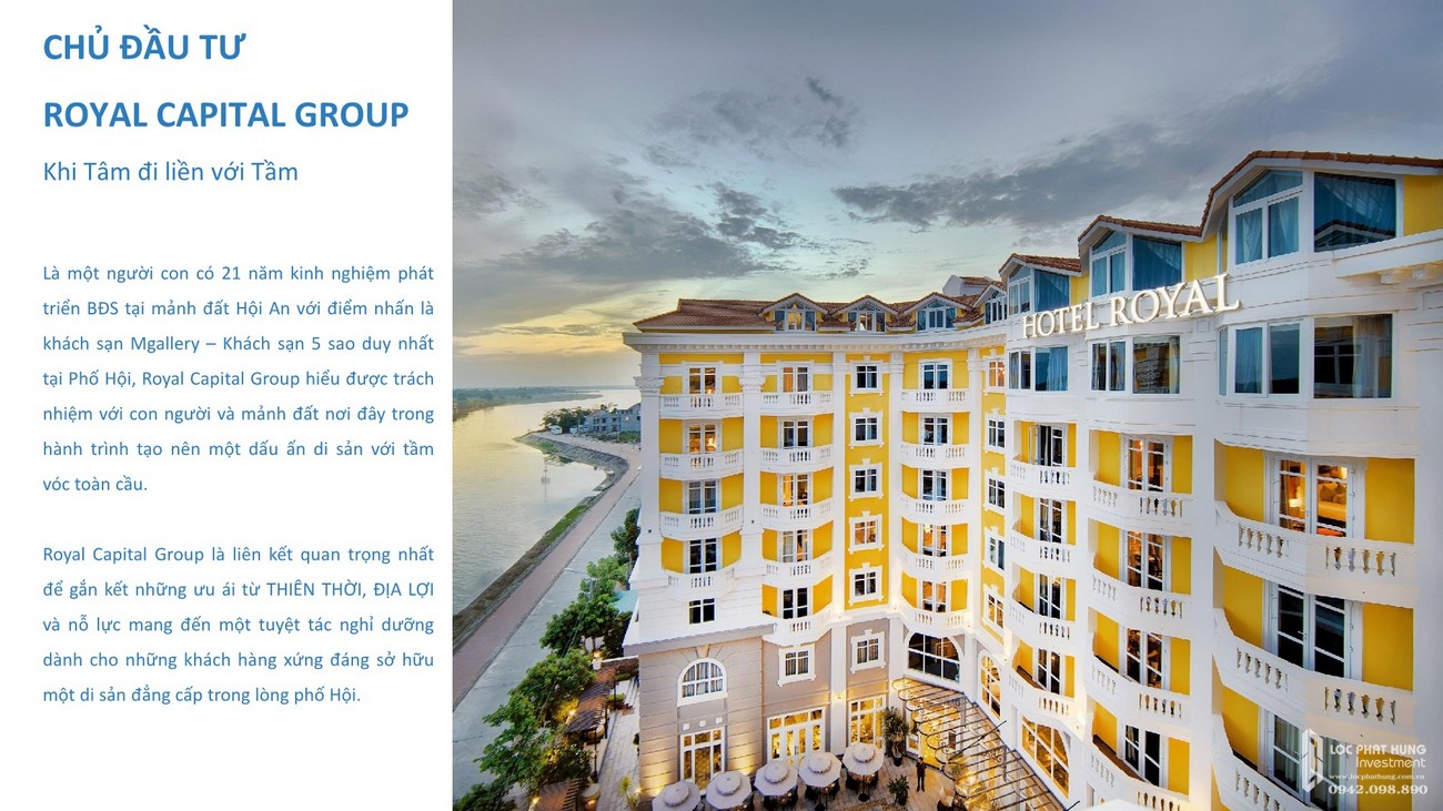 Chủ đầu tư Royal Capital Group dự án Shantira Hội An
