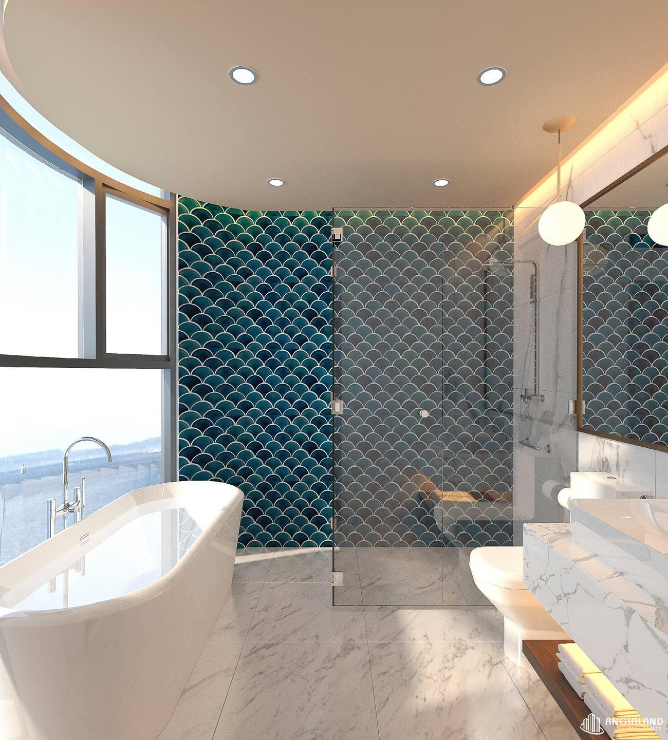 Thiết kế vệ sinh 1 nhà mẫu 2 phòng ngủ Asian Đà Nẵng