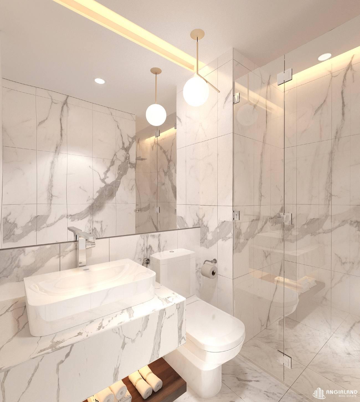 Thiết kế vệ sinh phòng khách nhà mẫu 2 phòng ngủ Asian Đà Nẵng