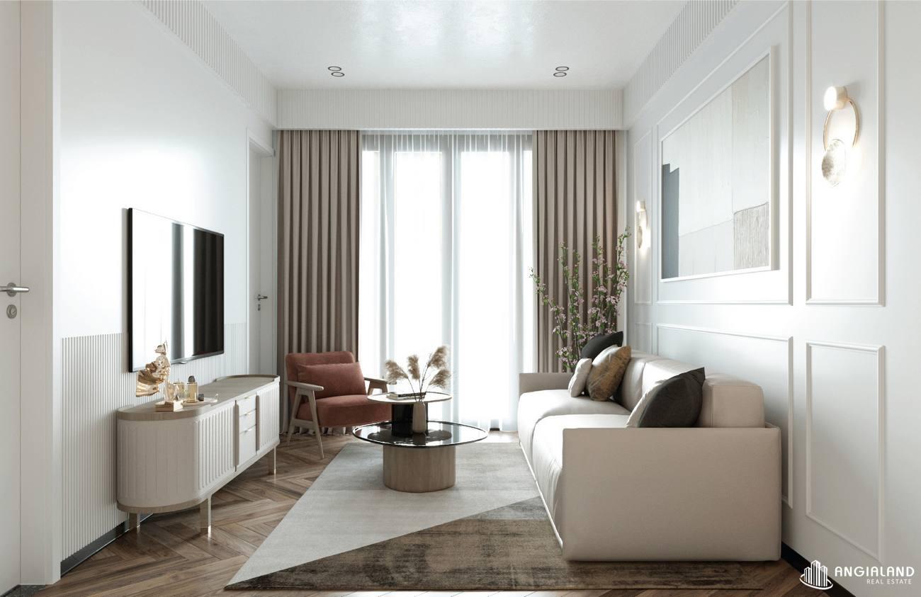 Thiết kế phòng khách nhà mẫu 3 phòng ngủ Asiana Đà Nẵng