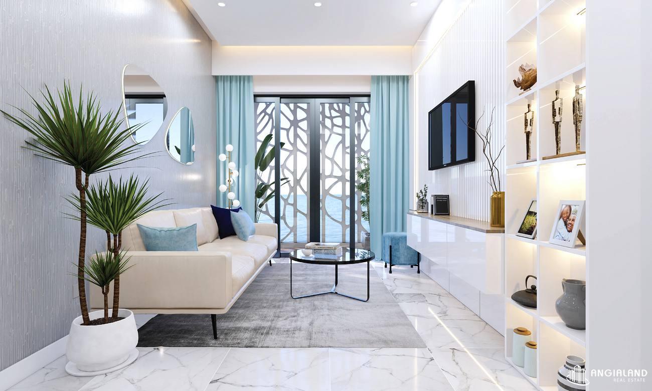 Thiết kế phòng khách nhà mẫu 2 phòng ngủ Asian Đà Nẵng