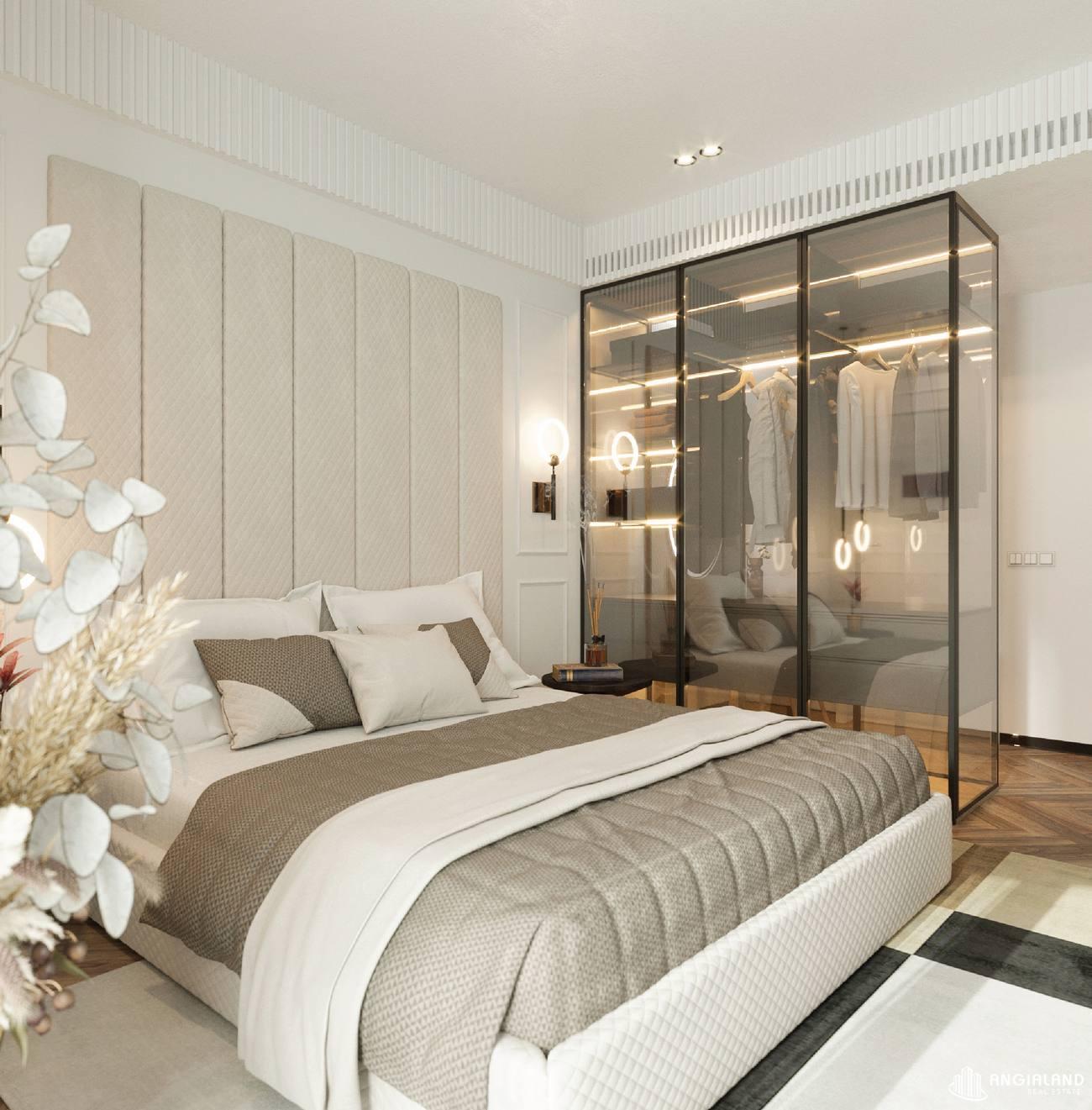 Thiết kế phòng ngủ 1 nhà mẫu 3 phòng ngủ Asiana Đà Nẵng