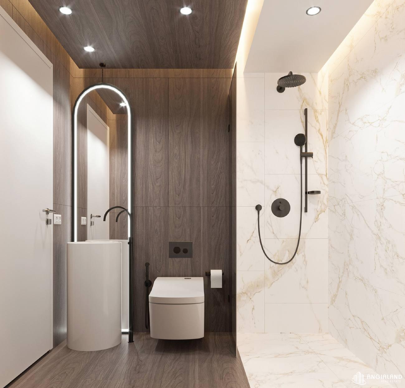 Thiết kế toilet phòng khách nhà mẫu 3 phòng ngủ Asiana Đà Nẵng