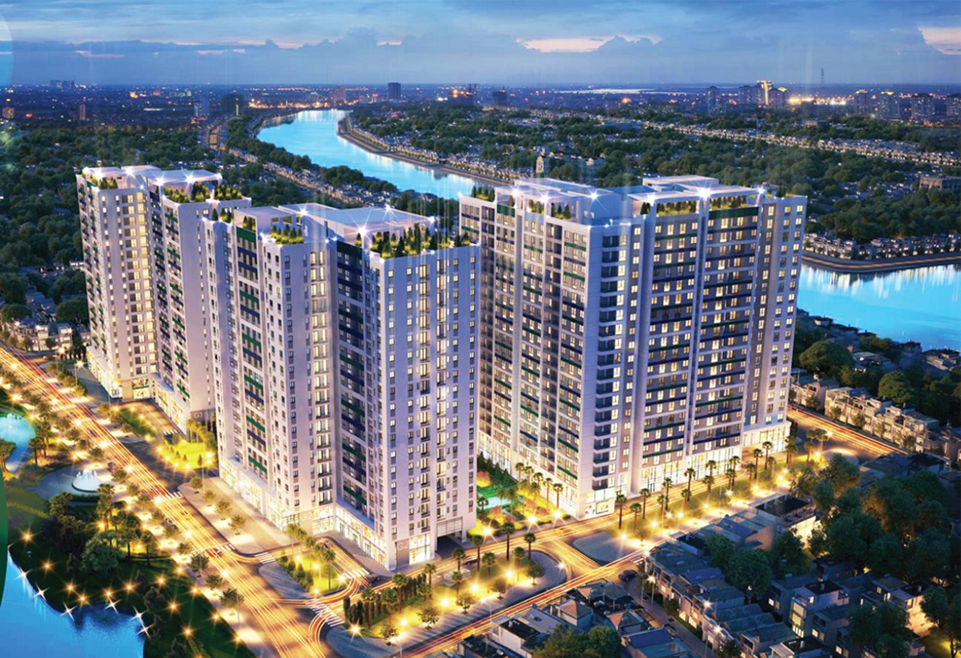 Phối cảnh dự án căn hộ chung cư Hà Đô Green Lane Quận 8 mới 2020
