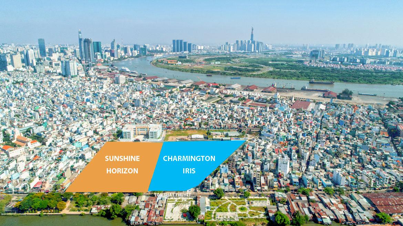 Hình ảnh thực tế vị trí dự án Sunshine Horizon Quận 4