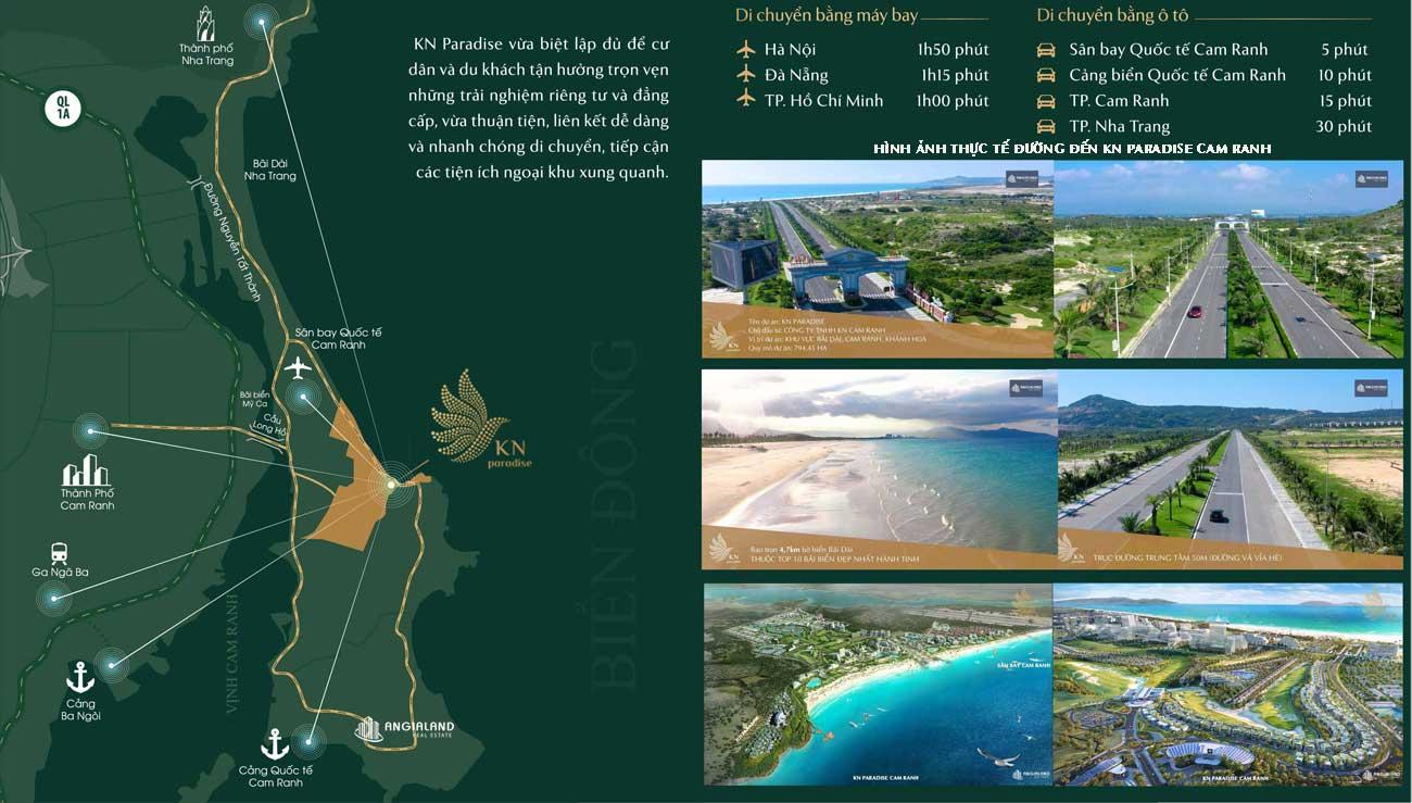 Bản đồ vị trí dự án Resort KN Paradise Cam Ranh