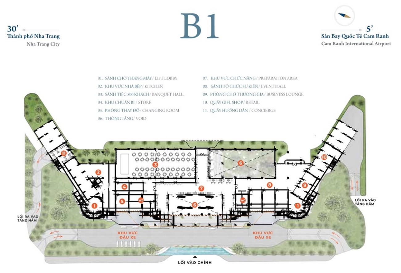 Mặt bằng dự án căn hộ condotel Cam Ranh Bay Đường Nguyễn Tất Thành chủ đầu tư Việt Nhật