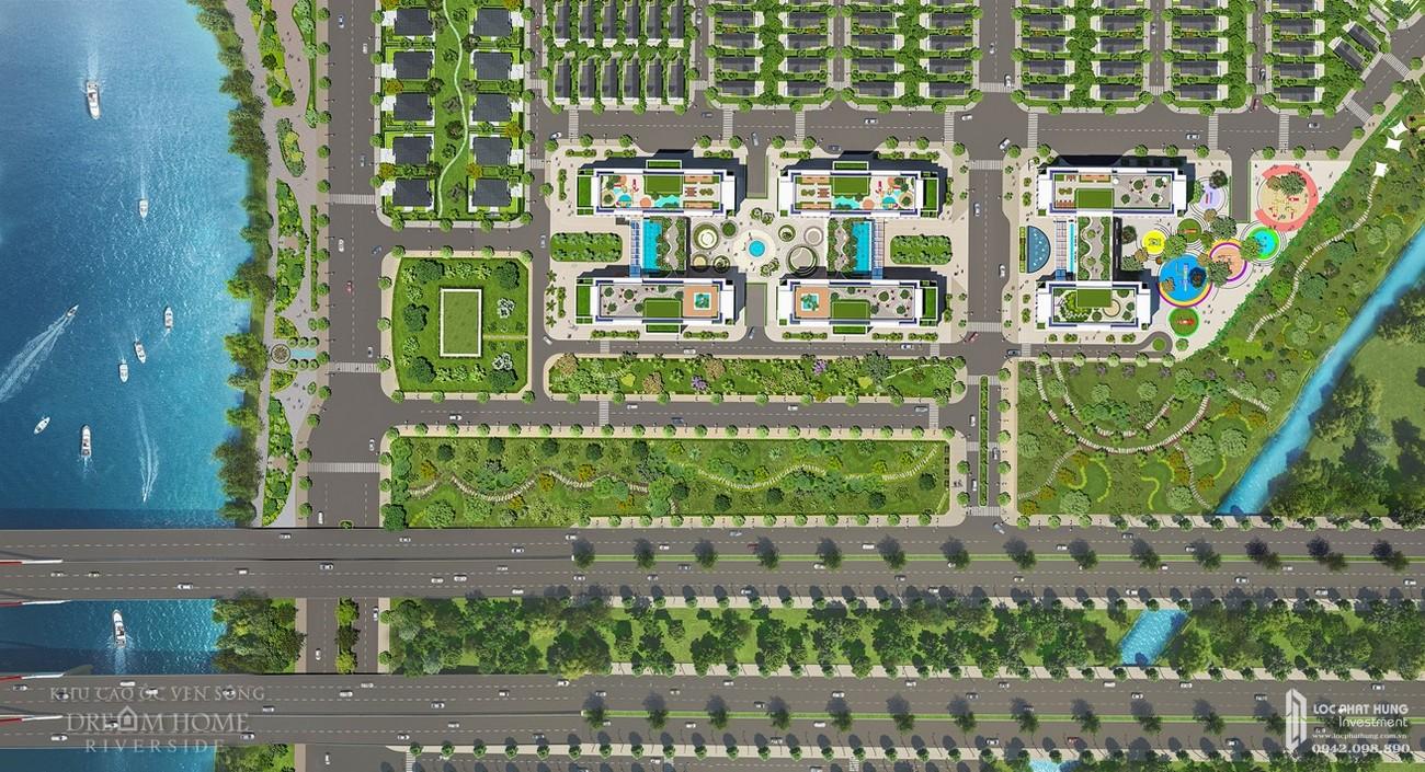 Mặt bằng dự án căn hộ chung cư Dream Home Riverside Quận 8 Đường Nguyễn Văn Linh chủ đầu tư Công ty TNHH Lý Khương