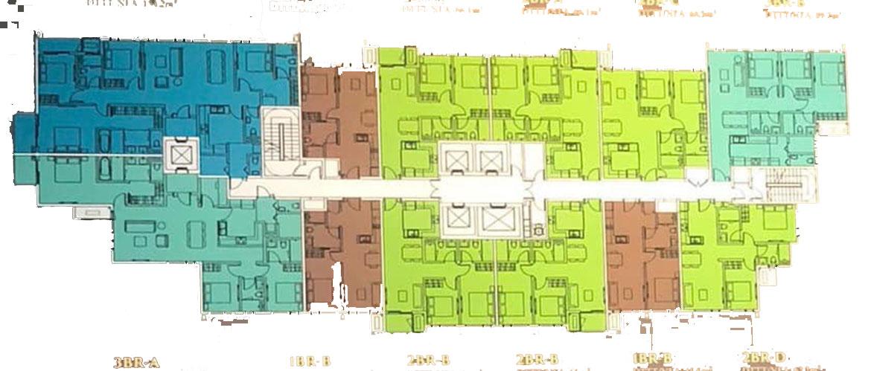 Mặt bằng tầng điền hình dự án MoZac Quận 2
