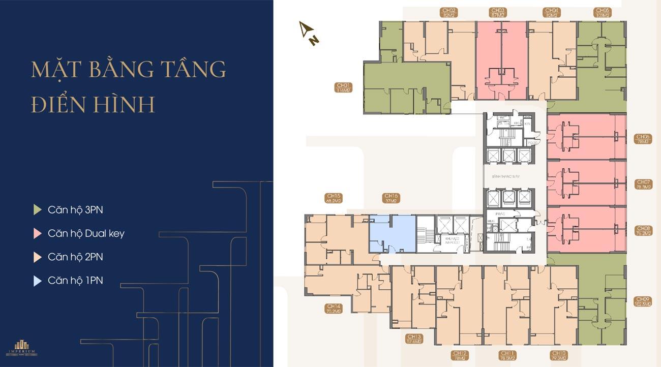 Mặt bằng thiết kế căn hộ Imperium Nha Trang