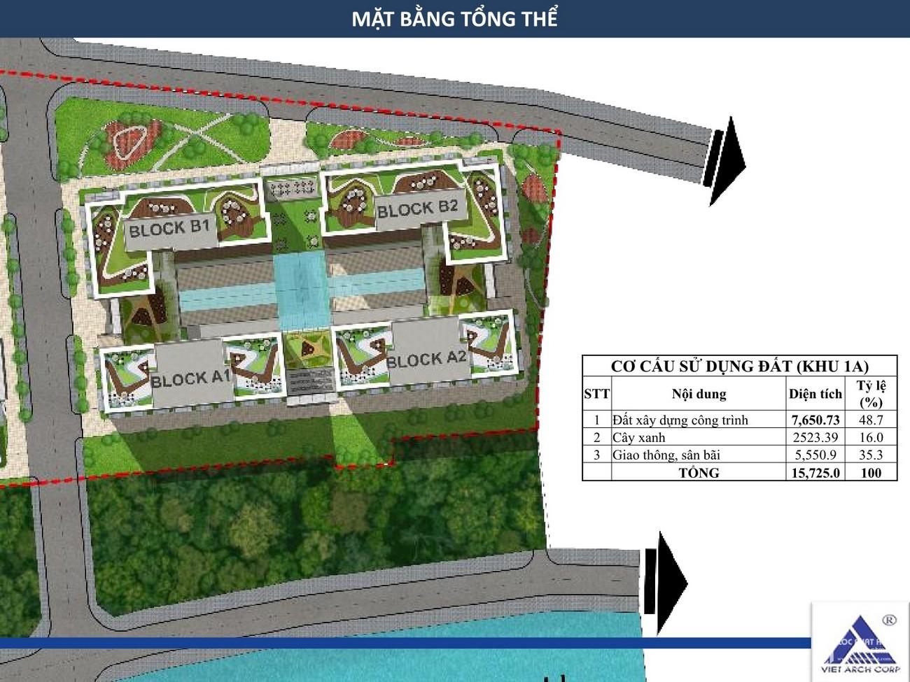 Mặt bằng tổng thể căn hộ nhà ở xã hội Golden City Tây Ninh chủ đầu tư INDOCHINA