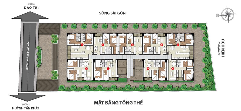 Mặt bằng chi tiết căn hộ tại chung cư Hoàng Quốc Việt Quận 7