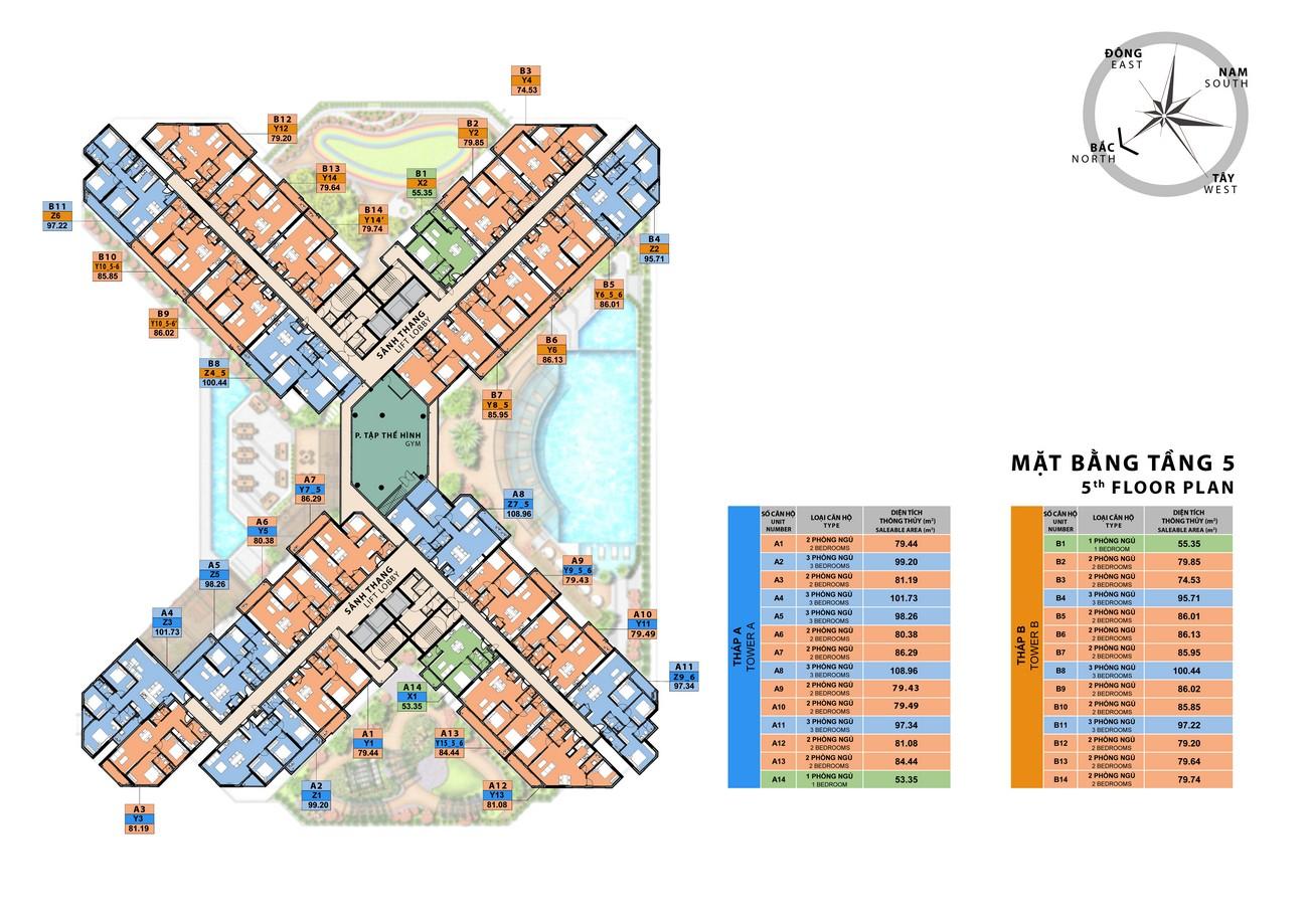 Mặt bằng tổng thể dự án căn hộ chung cư Sora Gardens II Thủ Dầu Một Đường Hùng Vương chủ đầu tư BTMJR Investment