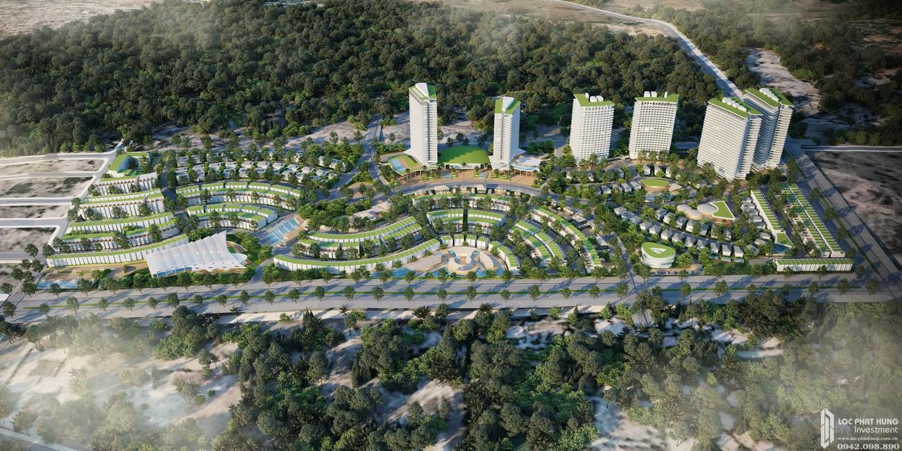 TIện ích cây xanh bao quanh dự án condotel Mũi Né Summer Land Đường Võ Nguyên Giáp chủ đầu tư Hưng Lộc Phát