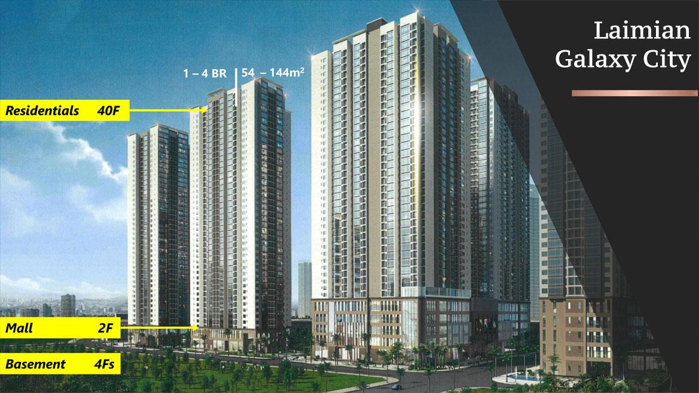 Các blocks Laimian City cao 40 tầng