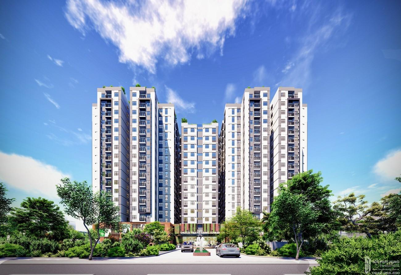 Phối cảnh tổng thể dự án căn hộ chung cư Unico Thăng Long Bến Cát Đường QL 13 chủ đầu tư Unico