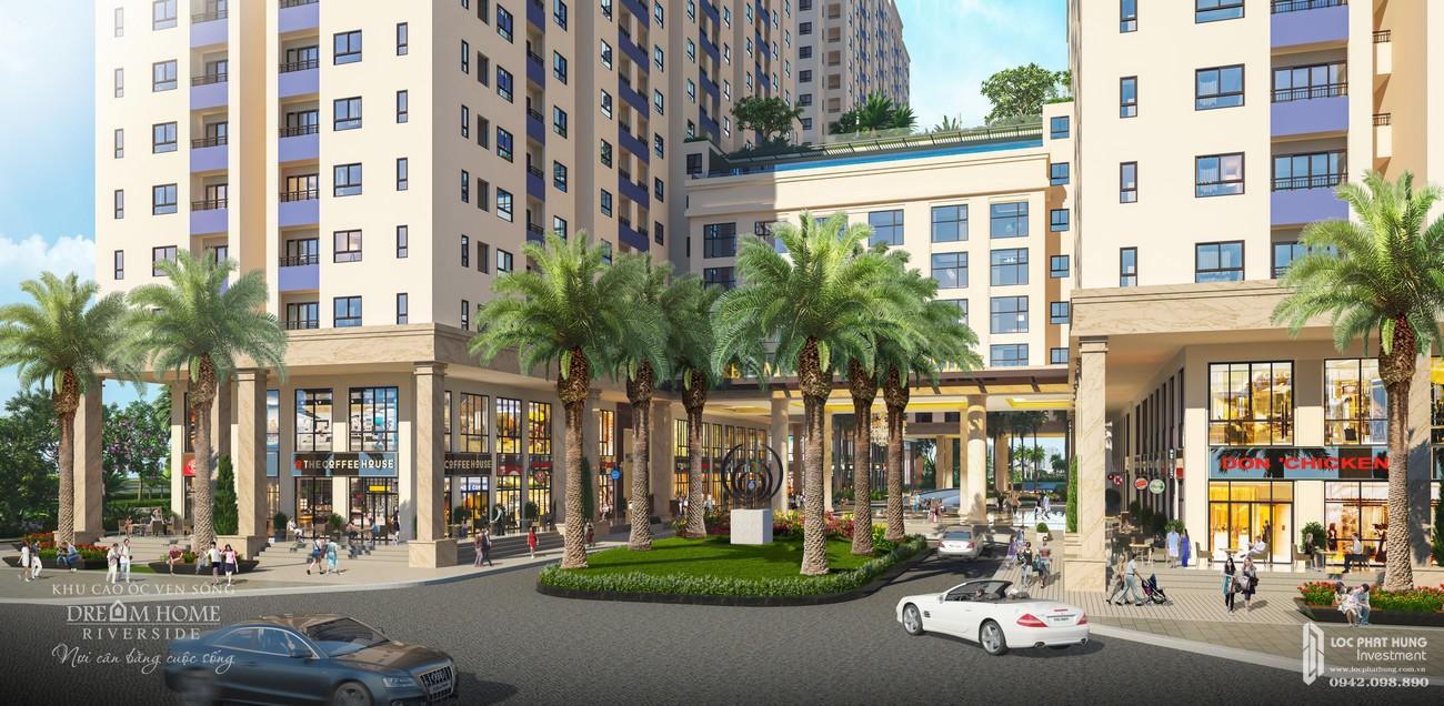 Phối cảnh tổng thể dự án căn hộ chung cư Dream Home Riverside Quận 8 Đường Nguyễn Văn Linh chủ đầu tư Công ty TNHH Lý Khương
