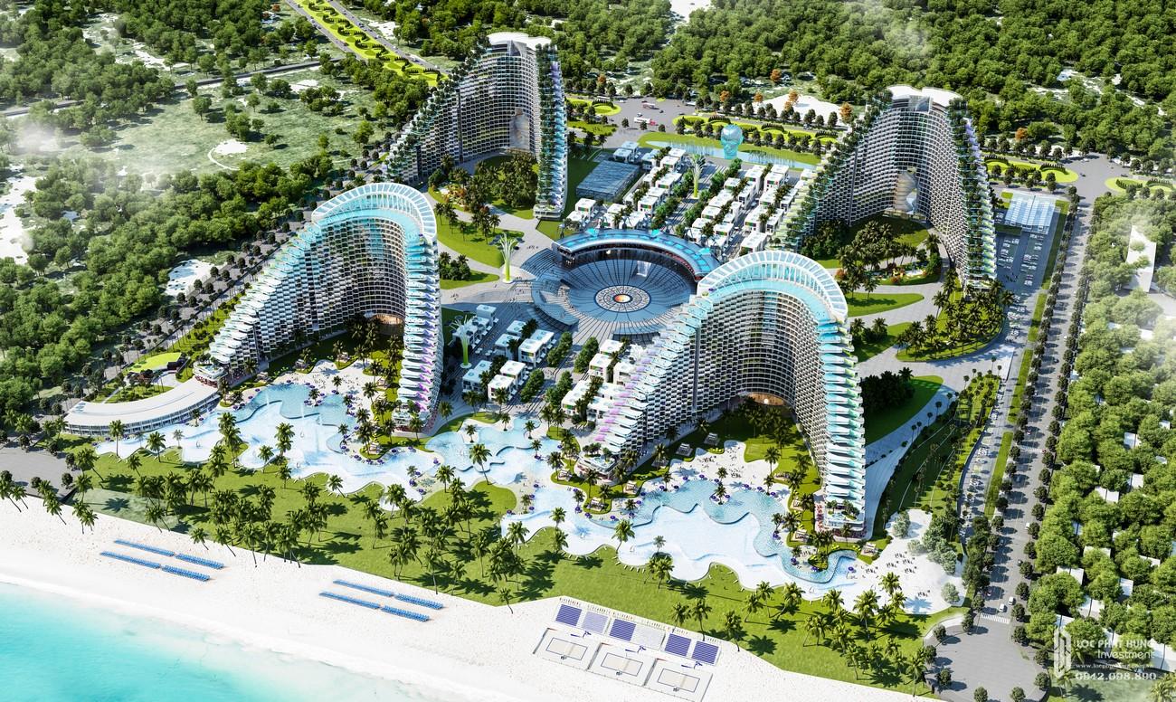 Phối cảnh tổng thể dự án condotel Arena Cam Ranh