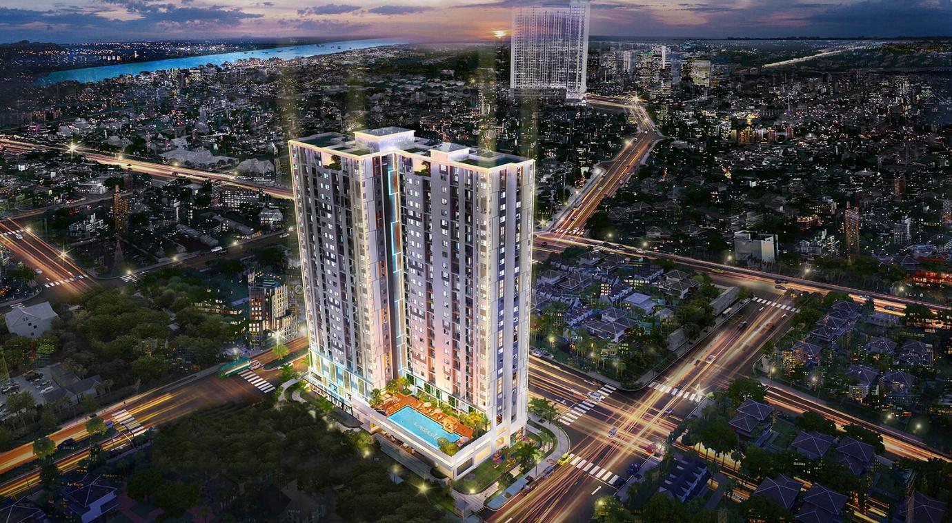 Phối cảnh tổng thể dự án căn hộ chung cư  Pegasuite II đường Tạ Quang Bửu