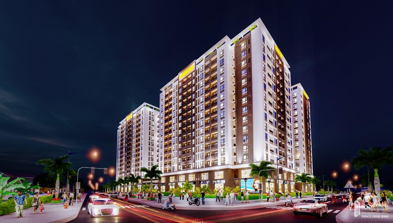 Phối cảnh tổng thể đem nhìn từ trên cao dự án Golden City Tây Ninh