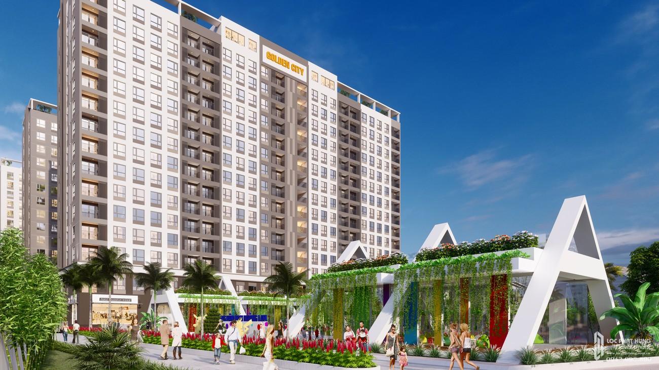 Phối cảnh tổng thể từ xa dự án Golden City Tây Ninh
