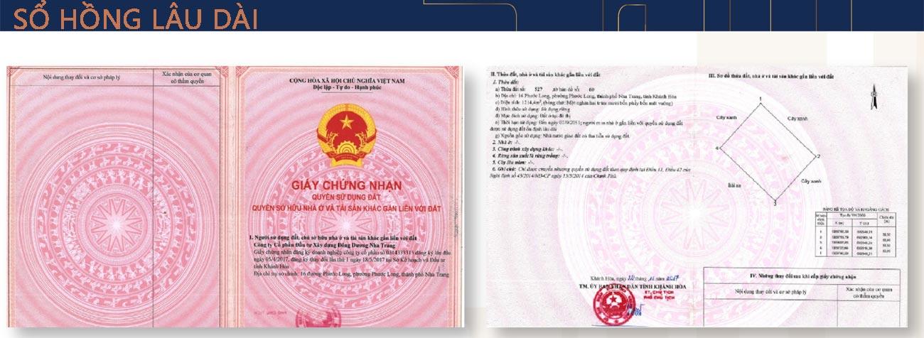 Sổ hồng Imperium Town Nha Trang
