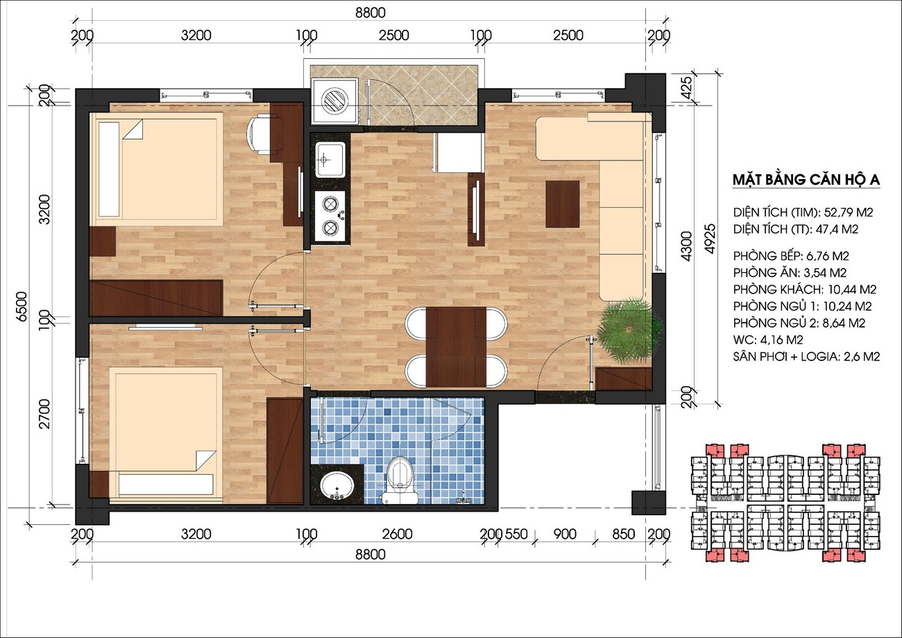 Thiết kế dự án căn hộ chung cư Unico Thăng Long Bến Cát Đường QL 13 chủ đầu tư Unico