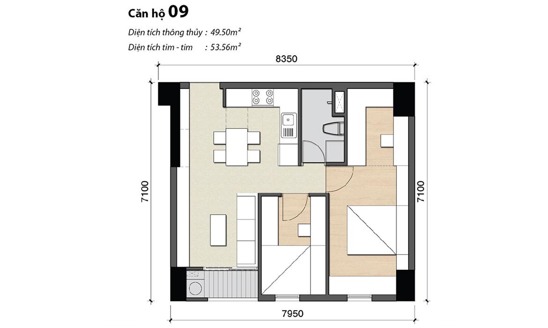Thiết kế chi tiết các căn hộ Hoàng Quốc Việt