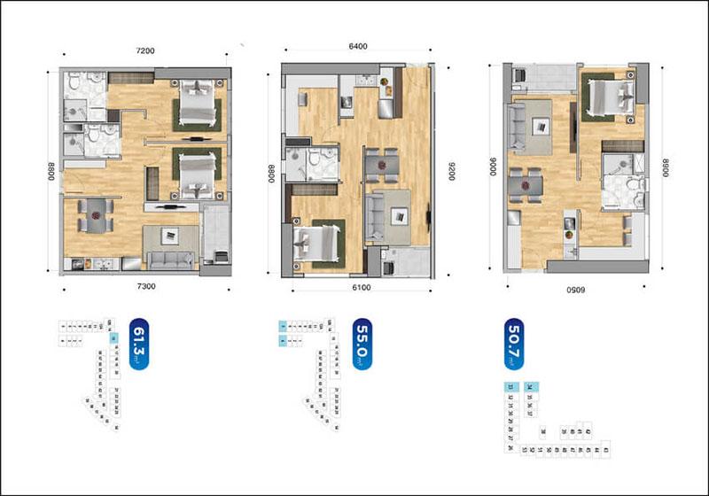 Thiết kế Officetel dự án Sunrise City View Quận 7