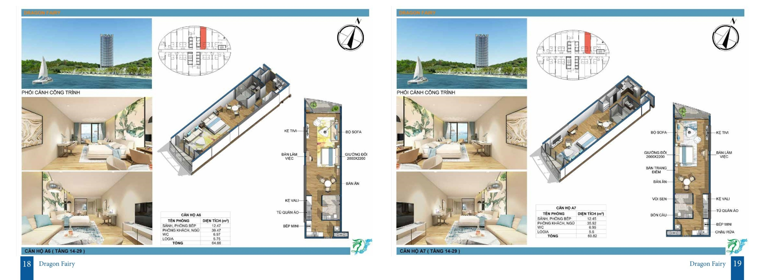Thết kế dự án căn hộ condotel Dragon Fairy Nha Trang