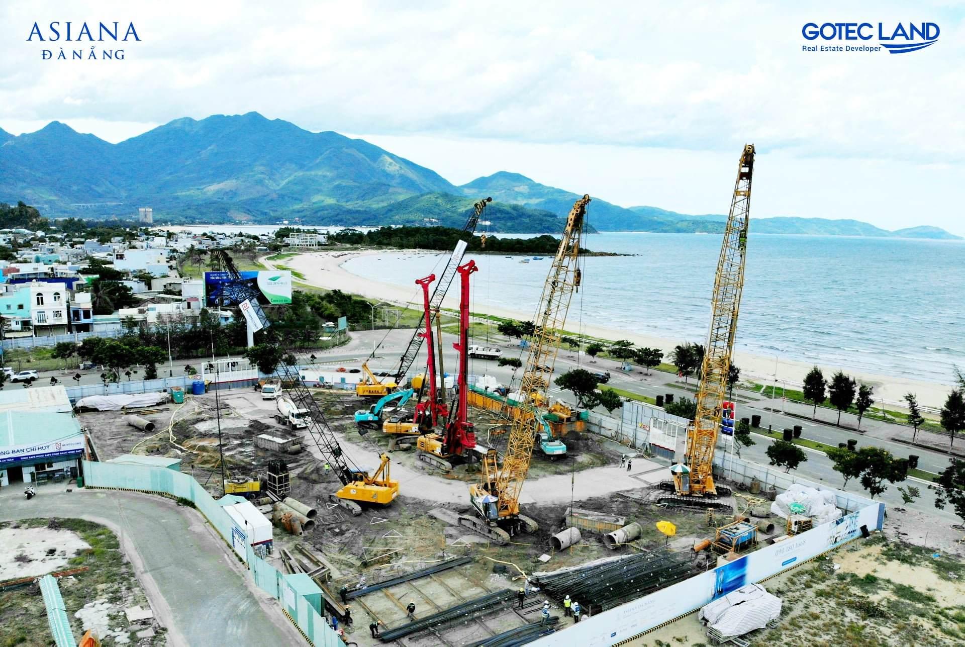Tiến độ xây dựng Asiana Đà Nẵng T8/2021