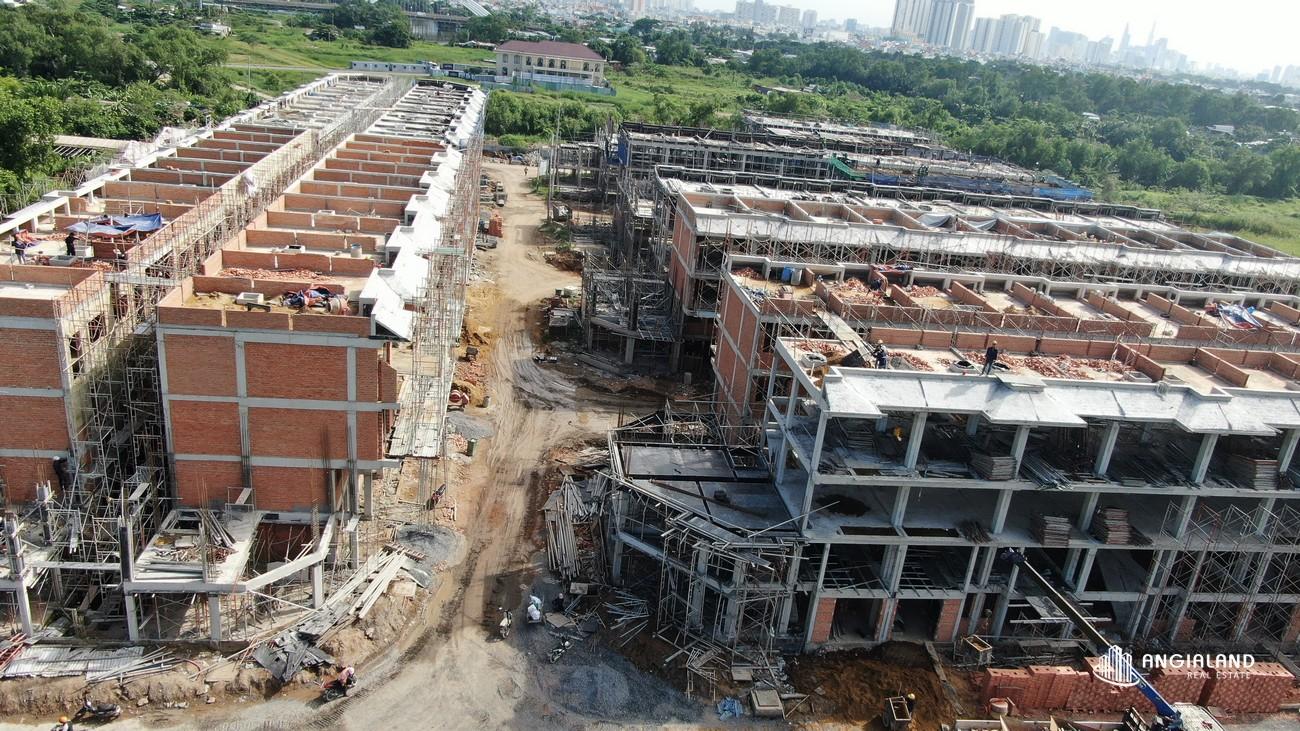 Tiến độ xây dựng Senturia Nam Saigon 06/2021 phân khu 1