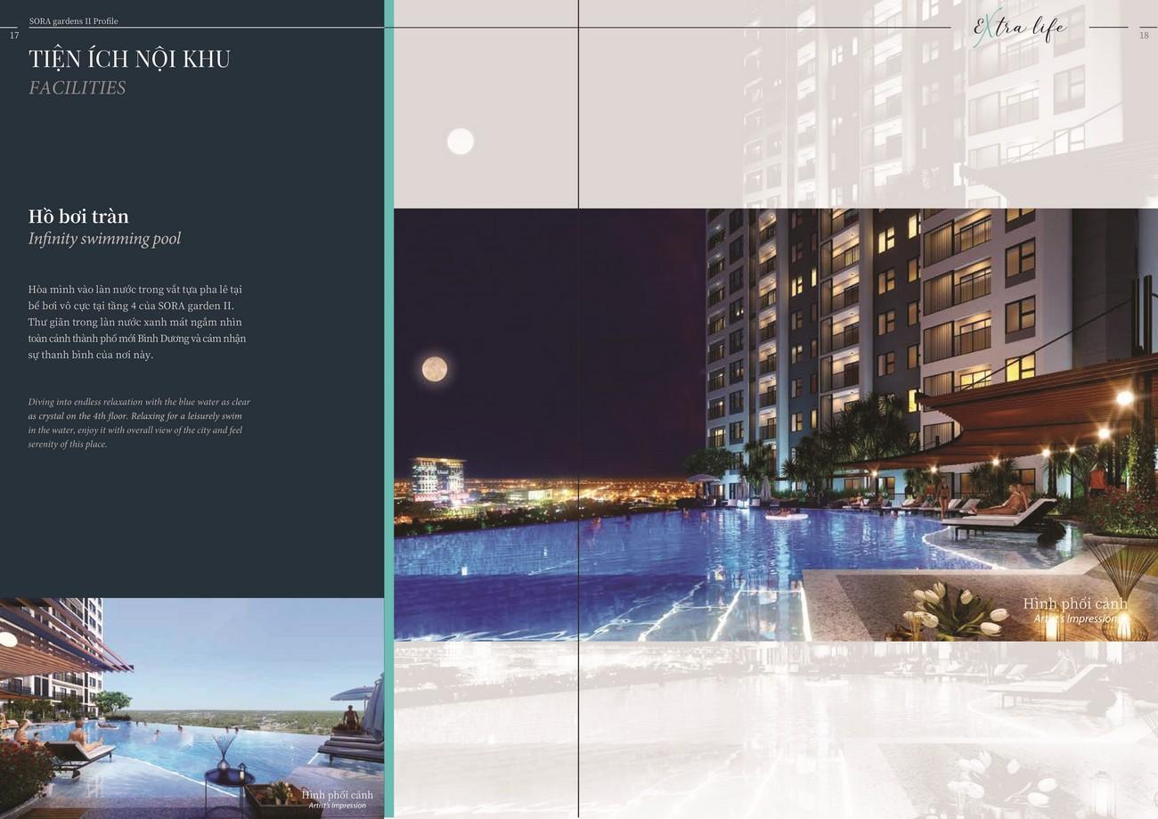 Tiện ích dự án căn hộ chung cư Sora Gardens II Thủ Dầu Một Đường Hùng Vương chủ đầu tư BTMJR Investment
