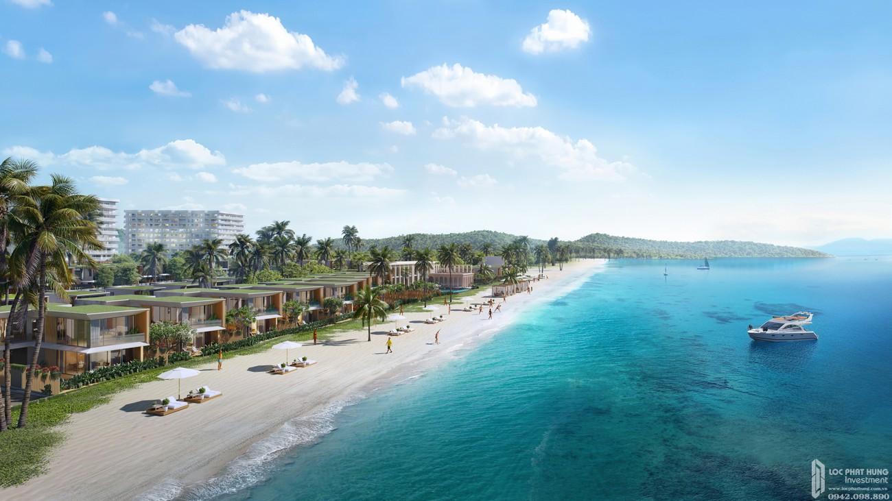 View dãy Villa mặt tiền biển