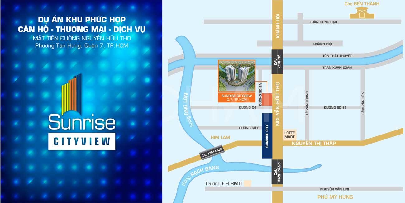 Vị trí địa chỉ dự án căn hộ chung cư Sunrise City View Nguyễn Hữu Thọ