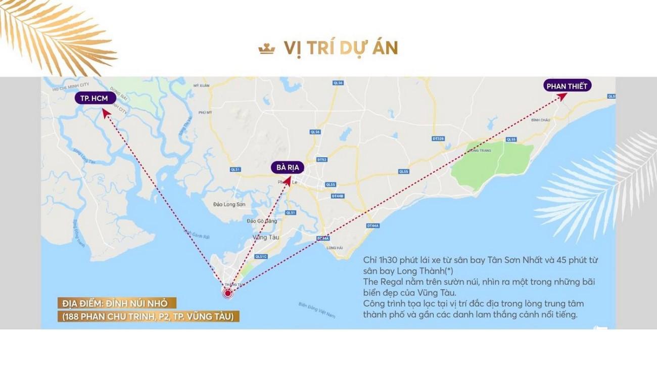 Vị Trí dự án Biệt thự biển The Regal Vũng Tàu