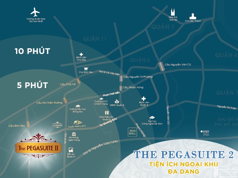 Vị trí dự án căn hộ Pegasuite II quận 8