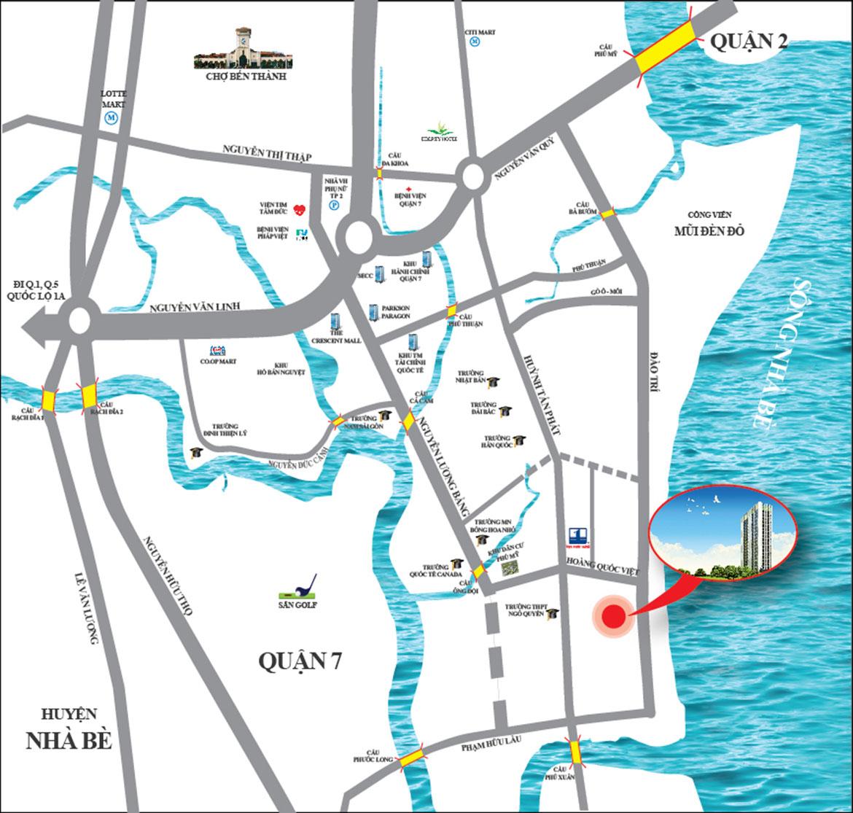 Vị trí dự án Hoàng Quốc Việt Quận 7