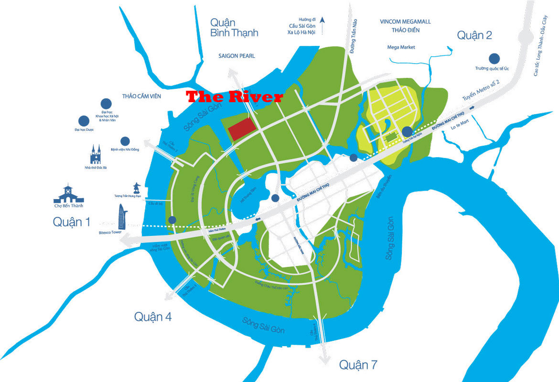 Vị trí dự án căn hộ The River