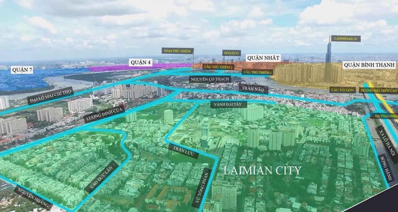 Vị trí Trung Tâm ngay trong thành phố của Laimian City