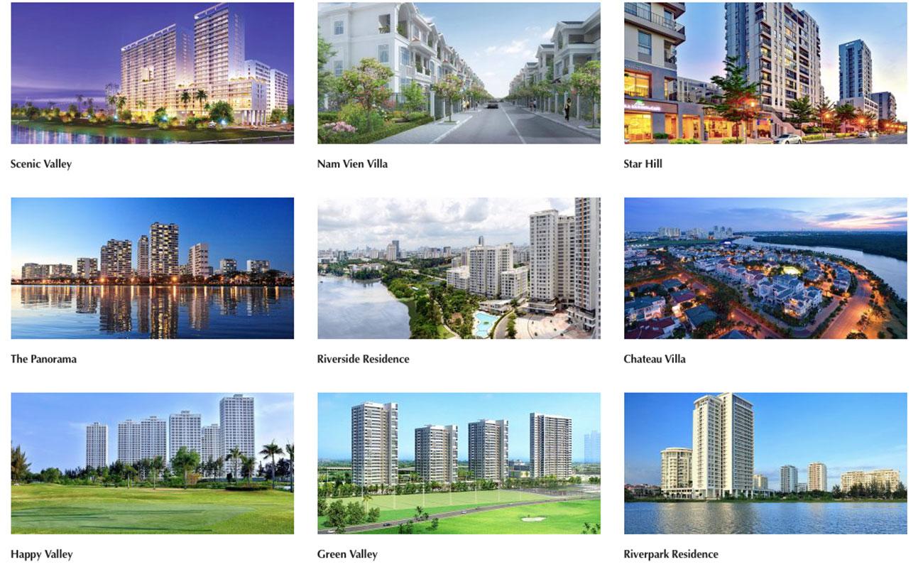 Các dự án mà Phú Mỹ Hưng đã thực hiện