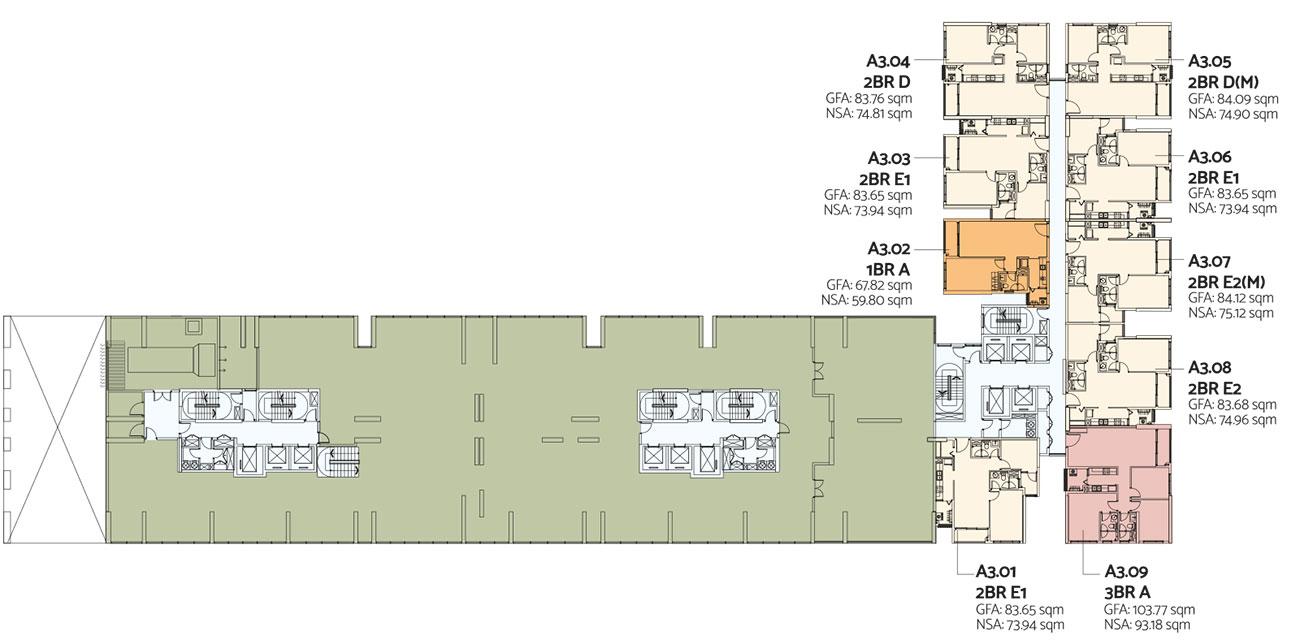 Mặt bằng dự án căn hộ De La Sol Quận 4