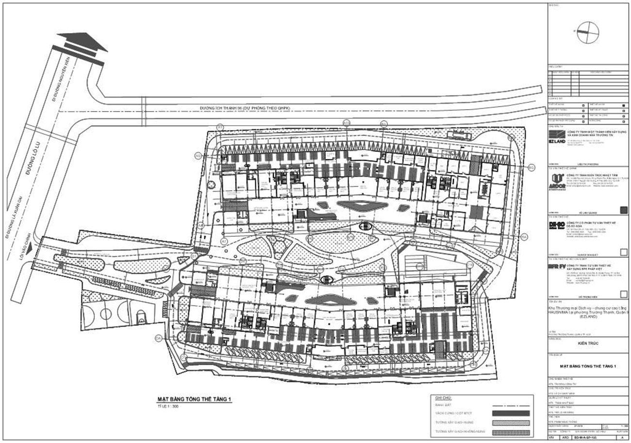 Mặt bằng dự án Hausnima Quận 9