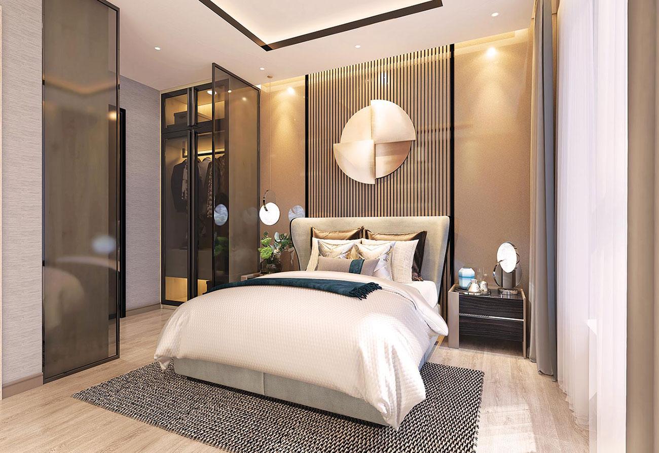 Phòng ngủ dự án căn hộ Babylon Garden Đào Trí