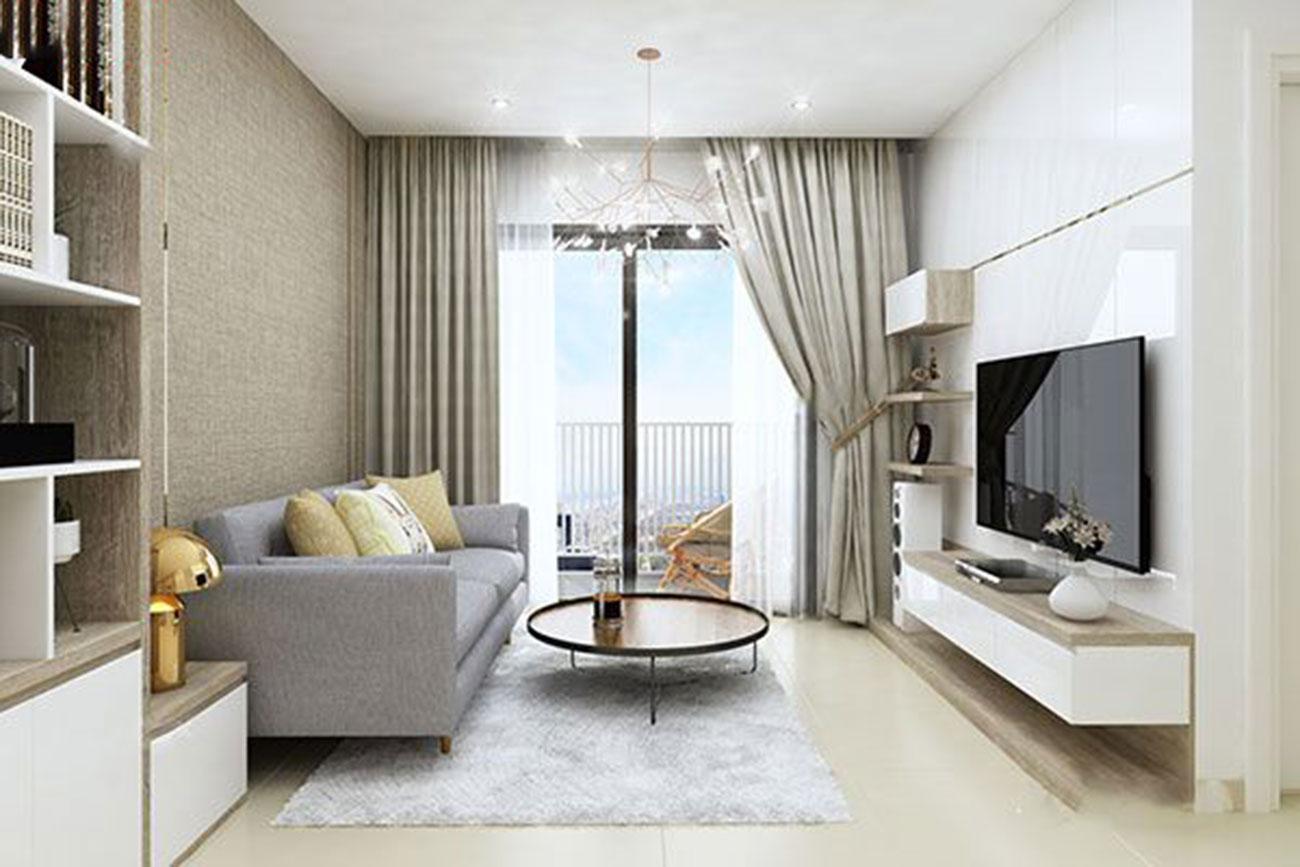 Nhà mẫu phòng khách căn hộ tại Tanimex Bình Phú