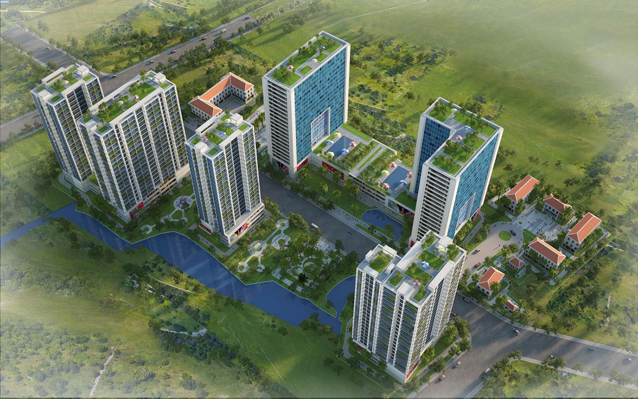 Phối cảnh tổng thể dự án Babylon Garden Đào Trí Quận 7
