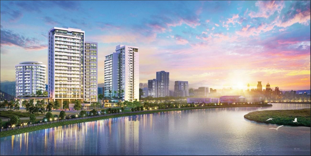 Phối cảnh tổng thể dự án Riverpark Premier