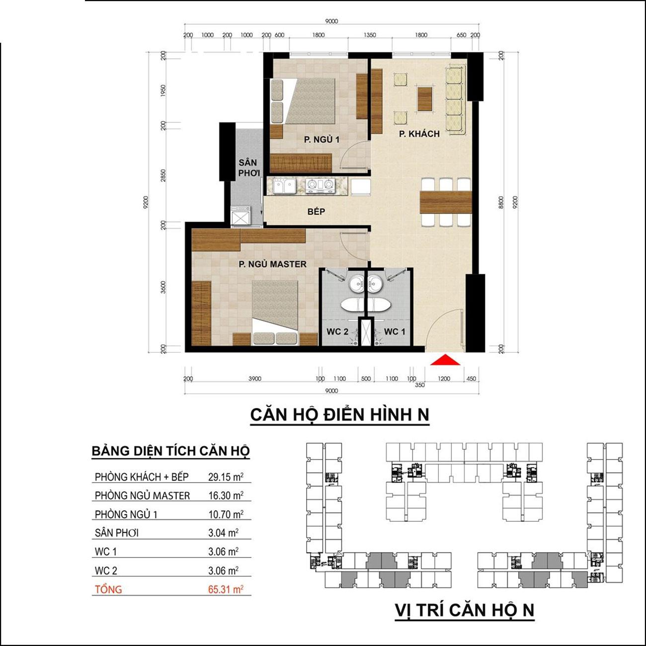 Thiết kế điển hình các căn nhà ở xã hội Tanimex Bình Phú