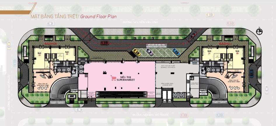 Mặt bằng tổng thể dự án căn hộ Hưng Lộc Phát Complex