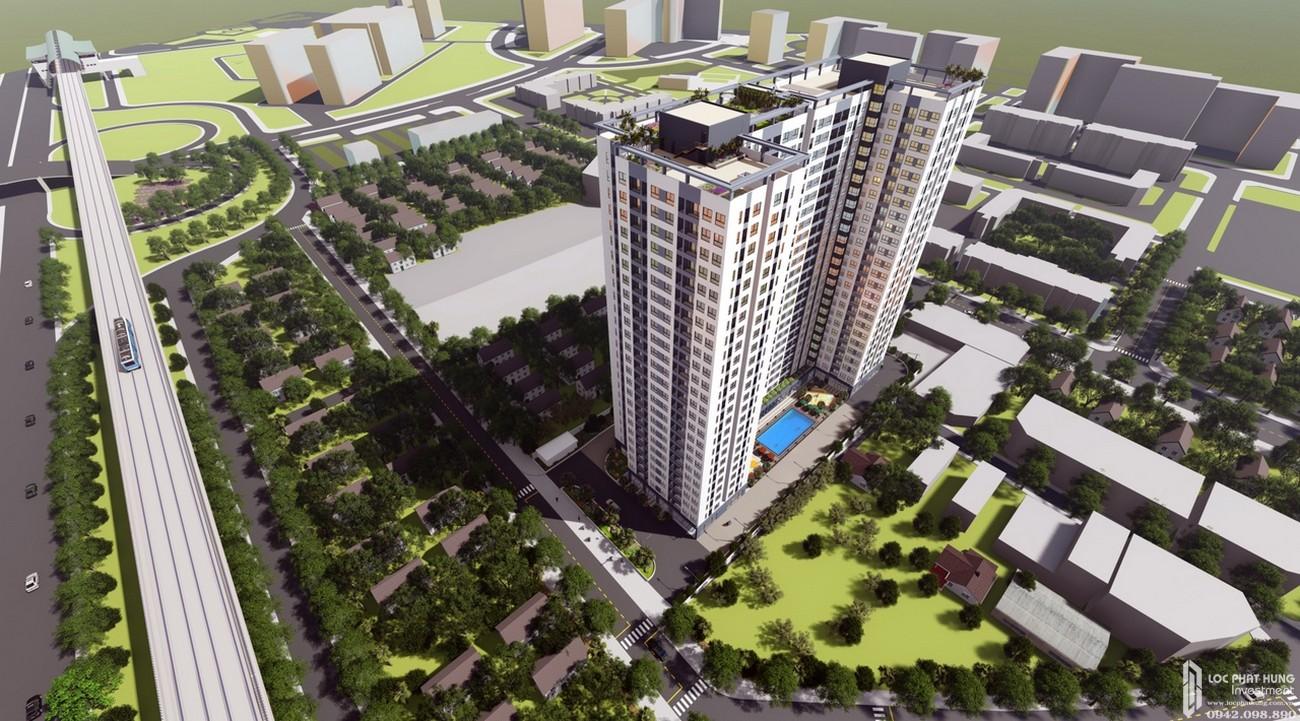 Phối cảnh tổng thể dự án Căn Hộ chung cư Bcons Miền Đông Dĩ An Đường Tân Lập chủ đầu tư Bcons